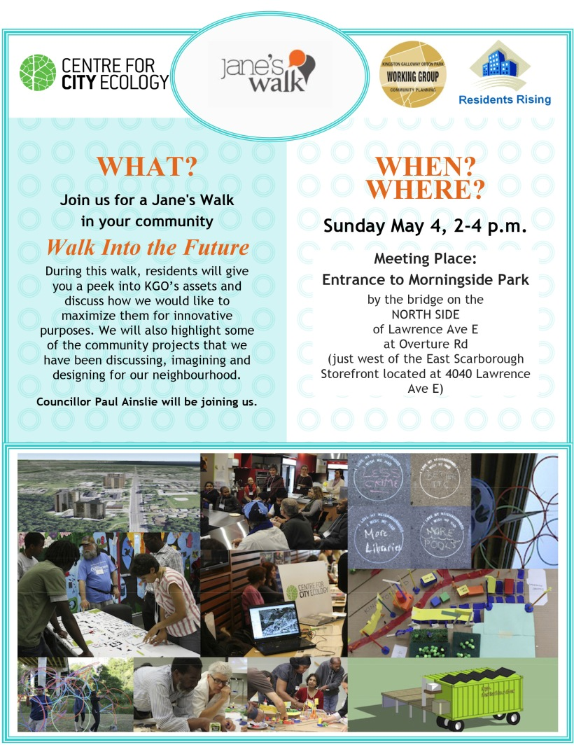 Jane's Walk Flyer - Walk into the Future 2014
